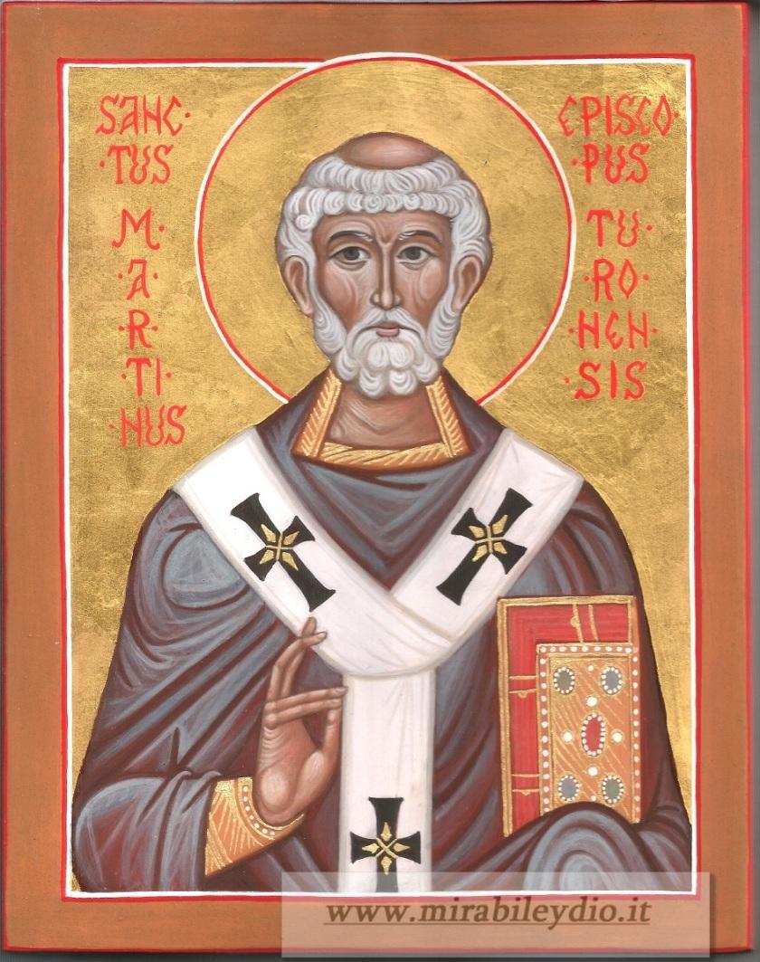 San Martino Vescovo Icone Sacre Mirabile