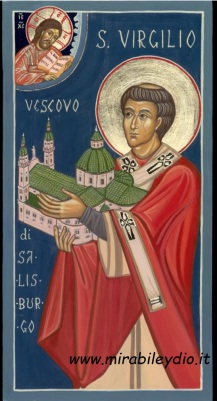 Icona san Virgilio  di Salisburgo