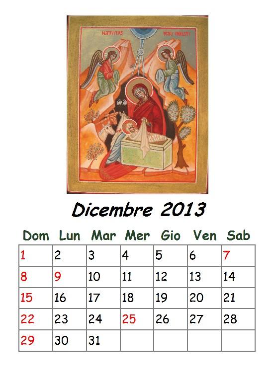 Calendario di DICEMBRE 2013