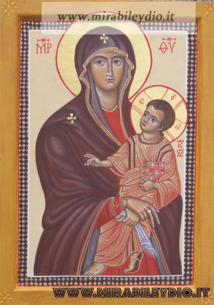 icona della Madre di Dio Salus Poluli Romani-per mano di Cristina Capella