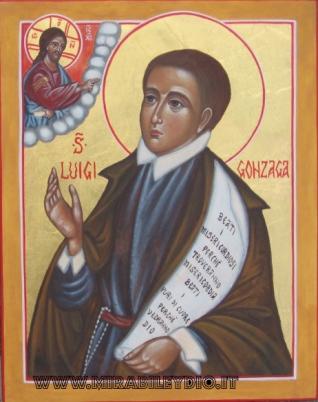San Luigi Gonzaga :icona per mano di Cristina Capella