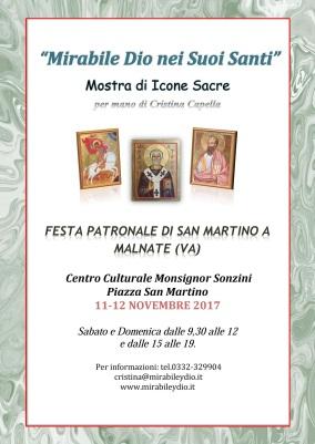 """""""Mirabile Dio nei Suoi Santi"""" Mostra di Icone Sacre per mano di Cristina Capella"""