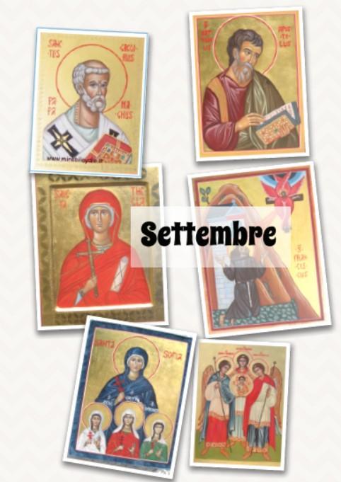 Icone santi di settembre